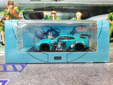 Time Model 1/64 Nissan Skyline GTR R35 Hatsune Miku High Wing