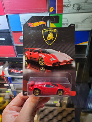 Hot Wheels 1/64 Lamborghini Series 1-8 Lamborghini Countach US Card