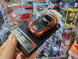 Make Up 1/43 LB011C SP Liberty Walk LB Works R Type 2 Racing Spec. Nissan R35 Candy Red / LBWK Stripe 20 Pcs Made Only ( Free Shipping Worldwide )