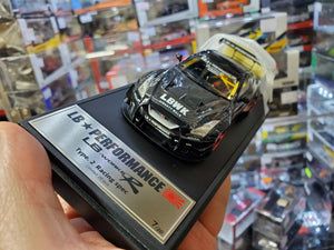 Make Up 1/43 LB011A SP Liberty Walk LB Works R Type 2 Racing Spec. Black LBWK Stripe Nissan GT-R35 ( Free Shipping Worldwide )