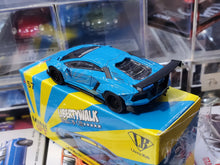 Load image into Gallery viewer, MiniGT 1/64 LB Works Lamborghini Aventador Light Blue #57 RHD
