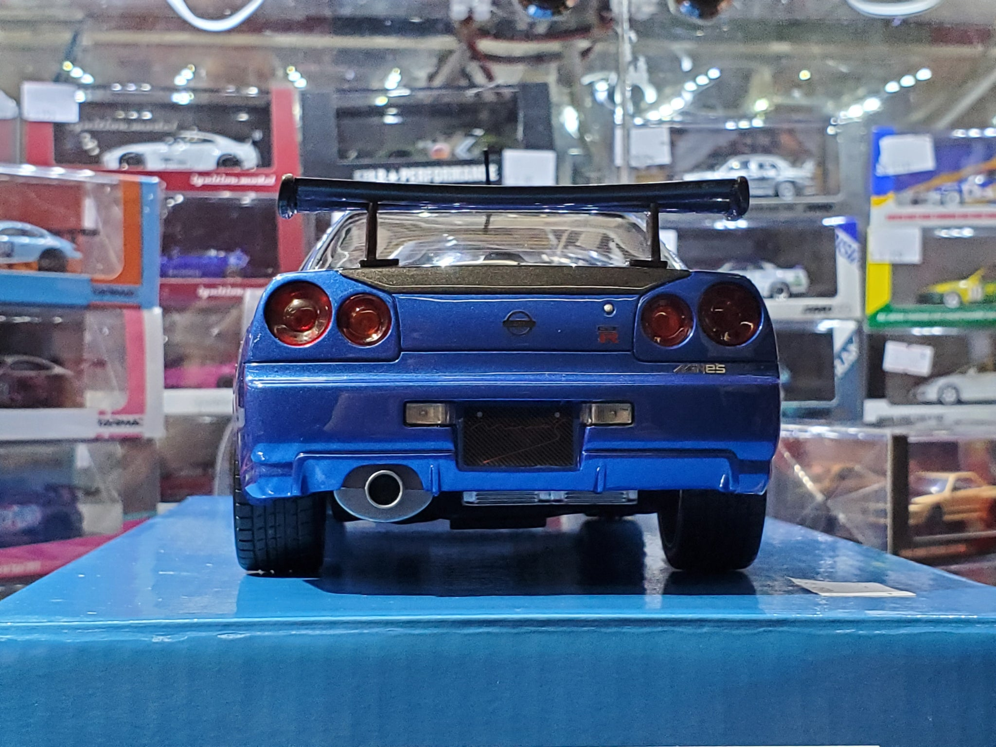 Diecast Toy Vehicles 1 18 Route Twisk Rt09 Otto Mobile Mine S Nissan Skyline R34 Gtr Bayside Blue Com