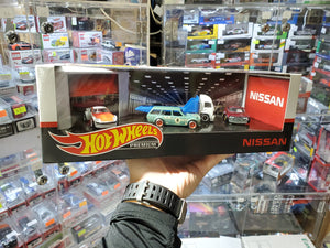 Hot Wheels 1/64 Nissan Premium Box Set Datsun 510 Wagon Fairlady Z Laurel 2000 SGX Aero Lift