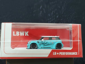 1:64 Timothy & Pierre Mini LB Resin Made Model Car ~ Tiffany Blue
