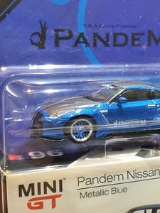 MiniGT Mini GT 1/64 No.96 Liberty Walk LB Works Nissan GTR R35 Metallic Blue Japan Toysrus
