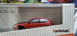 Tarmac Works 1/64 Honda Civic EG6 Gr.A Racing Red ( Free Shipping Worldwide )