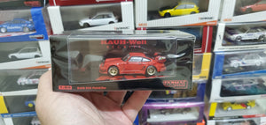 Tarmac Works 1/64 Porsche 930 RWB Rauh-Welt Begriff Red Painkiller Thailand Auto Salon Exclusive