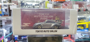MCE 1/64 RWB Porsche 911 993 Resin Made Model Tokyo Auto Salon Exclusive ( Silver )