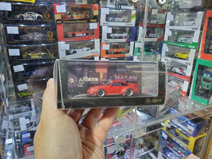 MCE 1/64 RWB Porsche 911 993 Resin Made Model Suncity Group ( Red )