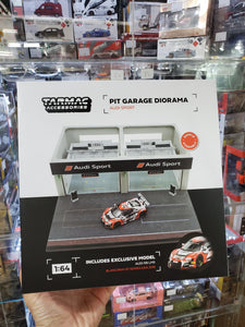 Tarmac Works 1/64 Pit Garage Diorama Audi Sport Include exclusive model Audi R8 LMS Blancpain GT Series Asia 2018