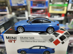 MiniGT Mini GT 1/64 BMW M4 F82 Yas Marina Blue Metallic No.122