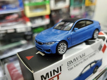 Load image into Gallery viewer, MiniGT Mini GT 1/64 BMW M4 F82 Yas Marina Blue Metallic No.122