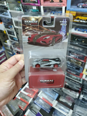 ( Chase ) Tarmac Works 1/64 Koenigsegg Agera RS Metallic Red / Black Carbon - GLOBAL64