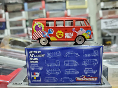 Majorette 1/64 ParkN Shop Hong Kong Exclusive VW Volkswagen T1 Chupa Chugs Forever Fun