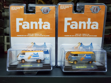 Set of 2 2020 M2 Machines Fanta 1960 VW Delivery Van 250 PCS Only - Regular & Chase ( Free Shipping Worldwide !!! )
