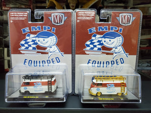 Set of 2 M2 Machines Volkswagen Delivery Van 1960 EMPI 31500 HS02 Limited 300 PCS 1/64 - Regular & Chase
