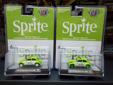 Set of 2 M2 Machines Sprite 1967 VW Beetle Deluxe USA Model SP01 Limited - Regular & Chase