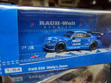 Load image into Gallery viewer, Tarmac Works 1/64 RWB 930 Wally's Jeans - HOBBY64