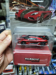 Tarmac Works 1/64 Koenigsegg Agera RS Metallic Red / Black Carbon - GLOBAL64