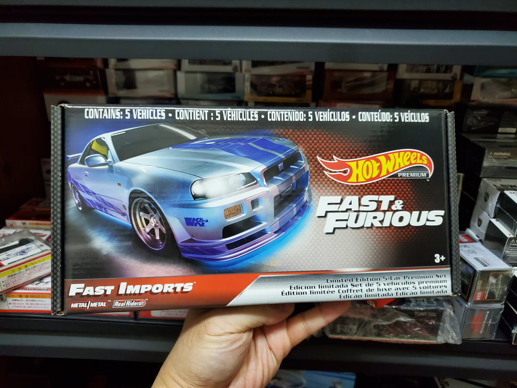 2020 Hot Wheels Fast & Furious Premium Fast Imports Box Set of 5 Cars