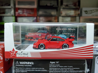 Fuelme 1/64 RWB Fishbone Candy Red Fist Auto Resin Model Car