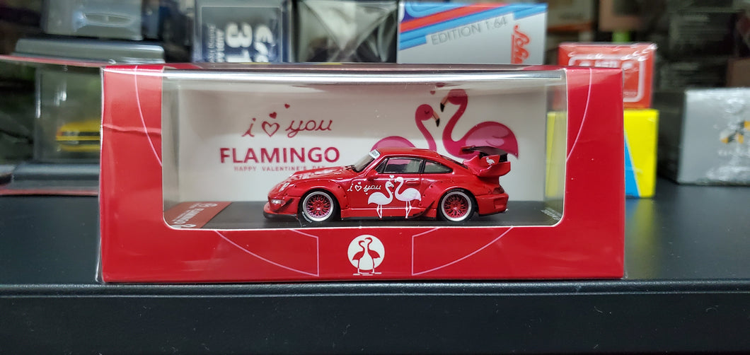 Time Model TM 1:64 Diecast Model RWB 993 Chinese Valentine Flamingo