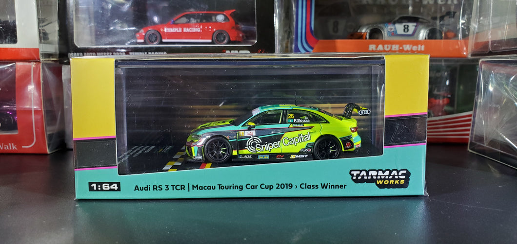 Tarmac Works Audi RS 3 TCR Macau Touring Car Cup 2019 - 1950cc Class Winner Filipe Souza