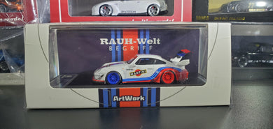 ArtWork x Time Model TM RWB 993 1:64 Diecast Martini High Wing