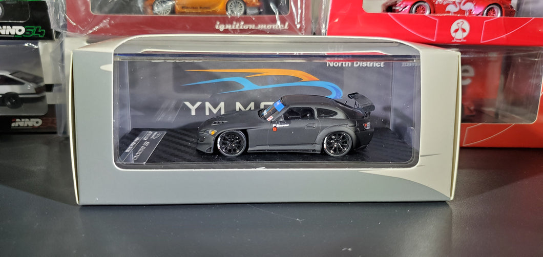 YM Model 1/64 Honda S2000 Matt Black Red