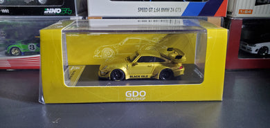 Time Model TM 1:64 Diecast Model RWB 993 Gold Black Isle Fallout Version