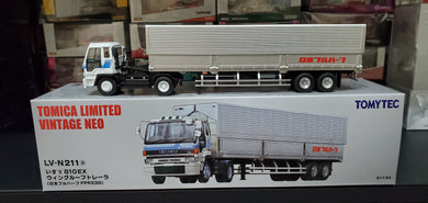 Tomy Tomica 1/64 TOMYTEC Vintage LV-N211a Isuzu 810EX Wing Roof Trailer (Japan Full Half FPR239) - Free Shipping Worldwide !!!