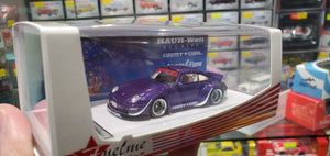 Fuelme 1/64 RWB 993 Army Girl Pearl Purple Orange Flame Special Wing Limited 799 Pcs