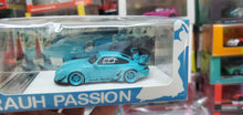 Load image into Gallery viewer, Timothy & Pierre TP 1:64 Prosche 993 RWB Rauh Passion Miami blue Resin Model Car