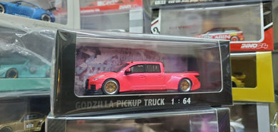 Pop Race 1/64 The Godzilla Pick up Truck Pink - Resin Made Model Car 300 Pcs Only