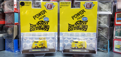 Set of 2 Regular and Chase - M2 MACHINES EMPI 1960 VW DELIVERY SHORTY BUS HOBBY EXCLUSIVE