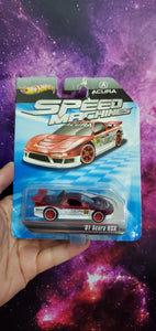 Hot Wheels Speed Machines Acura NSX (Red/White - Edition) ( Bad Card )