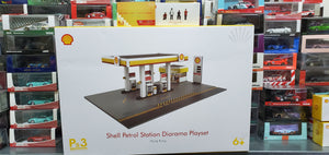 Tiny x Shell 1/64 Petrol Station Diorama + Crew Figures (x4) Playset Wave 2 No.9