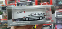 Load image into Gallery viewer, inno64 Mitsubishi Lancer Evolution III Grey Metallic with extra decals and wheels