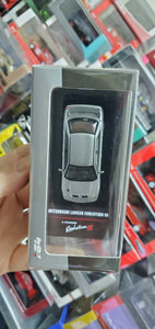 inno64 Mitsubishi Lancer Evolution III Grey Metallic with extra decals and wheels