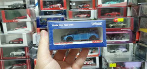 Tarmac Works 1/64 Honda Civic Type R FK8 Brilliant Blue / Black Bonnet **with container display case