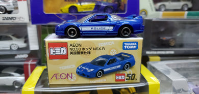 Tomy Tomica 1/59 No.81 Aeon Exclusive UK Police Car Honda NSX R Blue 50th Anniversary