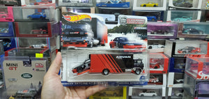 FLF56-956K 2021 TEAM TRANSPORT NISSAN SKYLINE GT-R BNR32 & SAKURA SPRINTER 1/64 ADVAN ( Hong Kong Card )