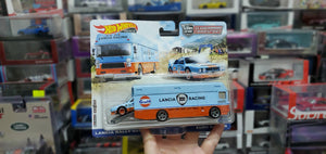 HOT WHEELS FLF56-956K 2021 CULTURE TEAM TRANSPORT LANCIA RALLY 037 1/64 GULF ( Hong Kong Card )