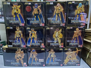 Complete Set of 12 Gold Saints EX Bandai Saint Seiya Myth Cloth Deathmask Scorpio Aries Pisces Capricorn Aquarius Libra Virgo Taurus Gemini Leo Sagittarius - USED in Excellent Conditions ( Free Shipping Worldwide !!! )