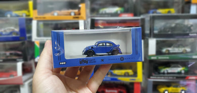 Inspire Model x Robert Design 1/64 Diecast RWB Beetle Coupe Blue by MCE