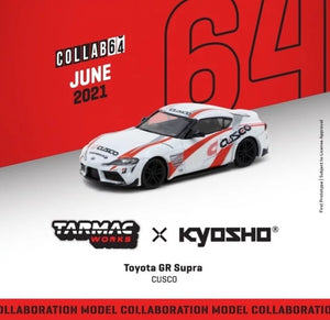 Preorder - Tarmac Works 1/64 Toyota GR Supra CUSCO *** Collaboration with Kyosho *** - Release Date : July 2021
