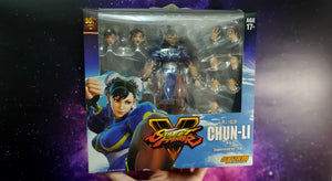 Storm Collectibles Chun Li Action Figure ( Player 1 Blue Version ) - Street Fighter 2 V 5 (Used) ( Free Shipping Worldwide !!! )