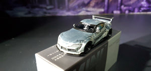 Mini GT MiniGT 1/64 Dealer Exclusive No.217 Pandem Toyota GT Supra V1.0 Polished Silver - Sealed !!! ( Free Shipping Worldwide )