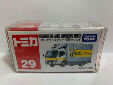 Takara Tomy Tomica 29 Mitsubishi Canter Sakai Moving Service (Made In China) (#Y)