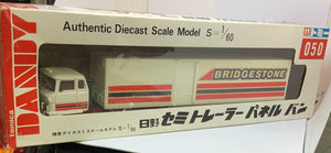 TOMICA DANDY HINO SEMI TRAILER PANEL VAN SCALE 1/64